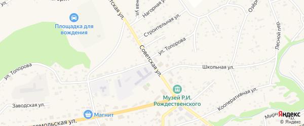 Советская улица на карте станции Баюново с номерами домов