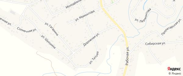 Дорожная улица на карте села Косихи с номерами домов