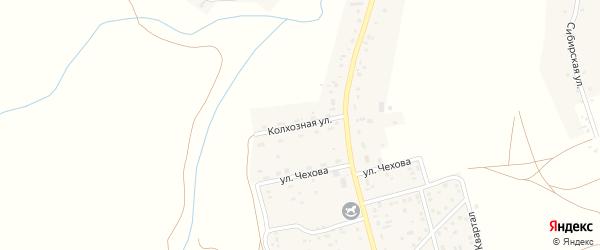Колхозная улица на карте села Косихи с номерами домов
