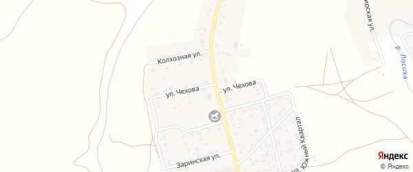 Улица Чехова на карте села Косихи с номерами домов