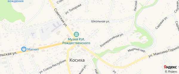 Социалистическая улица на карте села Косихи с номерами домов