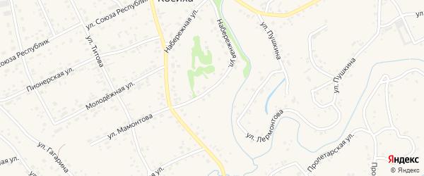 Набережная улица на карте села Косихи с номерами домов