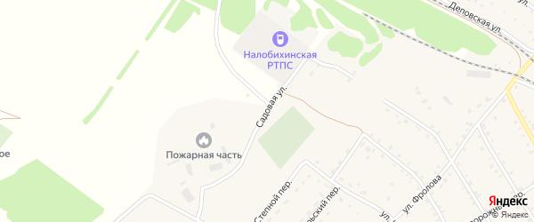 Садовая улица на карте села Налобиха с номерами домов