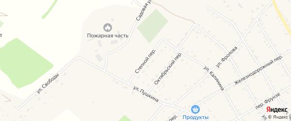 Степной переулок на карте села Налобиха с номерами домов