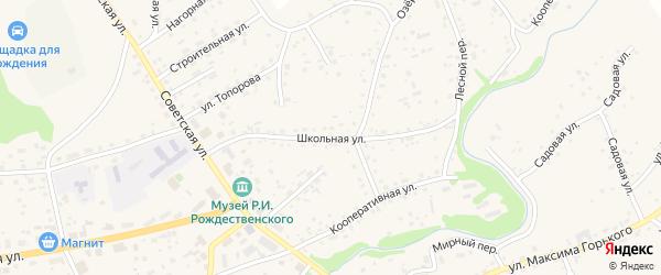 Школьная улица на карте села Косихи с номерами домов