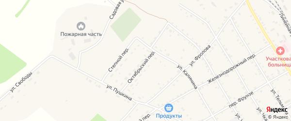 Октябрьский переулок на карте села Налобиха с номерами домов