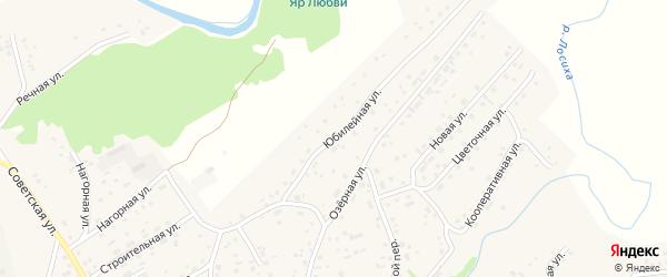 Юбилейная улица на карте Логового поселка с номерами домов