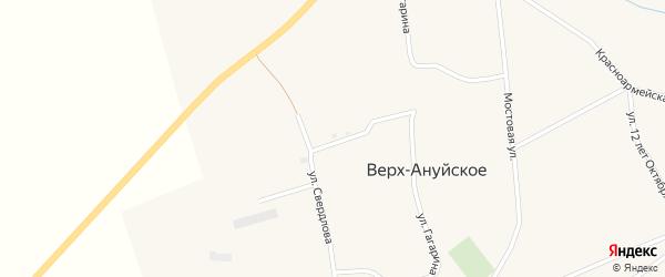 Степная улица на карте Верха-Ануйского села с номерами домов