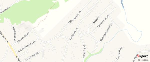 Озерная улица на карте села Косихи с номерами домов