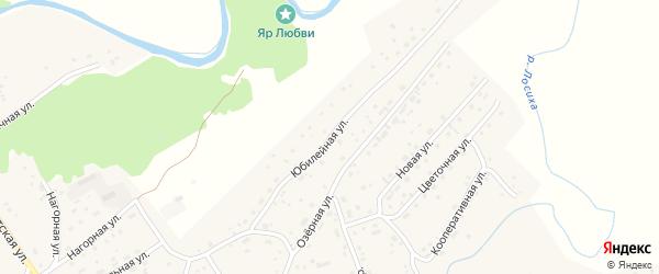 Юбилейная улица на карте села Косихи с номерами домов