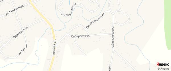 Сибирская улица на карте села Косихи с номерами домов