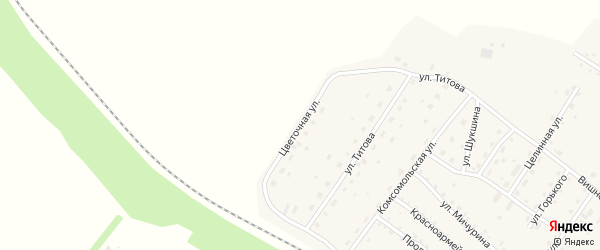 Цветочная улица на карте села Налобиха с номерами домов