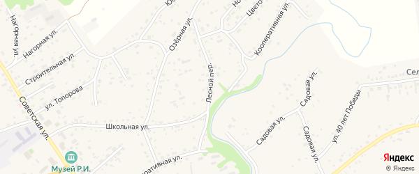Лесной переулок на карте села Косихи с номерами домов