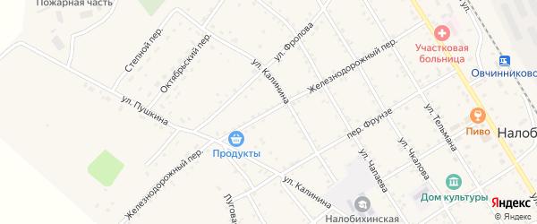 Железнодорожный переулок на карте села Налобиха с номерами домов