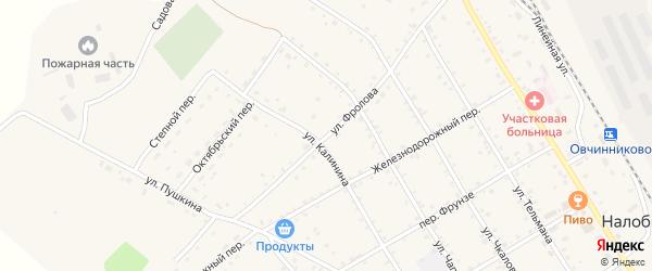 Улица С.Фролова на карте села Налобиха с номерами домов