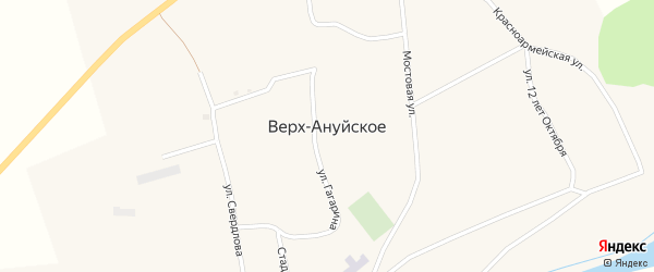 Улица М.Горького на карте Верха-Ануйского села с номерами домов