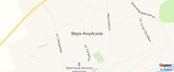 Переулок 12 лет Октября на карте Верха-Ануйского села с номерами домов