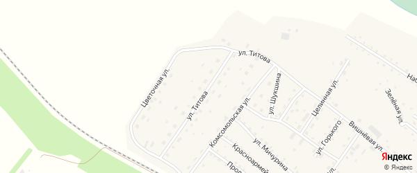 Улица Г.Титова на карте села Налобиха с номерами домов