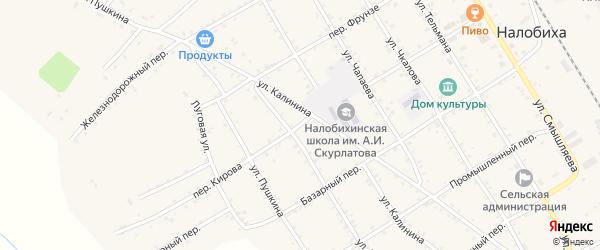 Переулок Кирова на карте села Налобиха с номерами домов