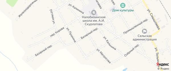 Базарный переулок на карте села Налобиха с номерами домов