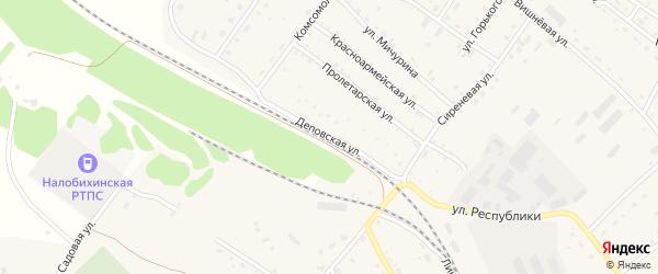 Деповская улица на карте села Налобиха с номерами домов