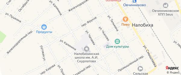 Улица Чапаева на карте села Налобиха с номерами домов