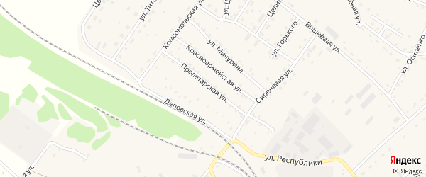 Пролетарская улица на карте села Налобиха с номерами домов
