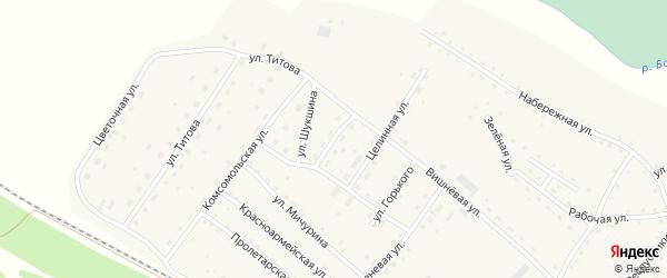 Молодежная улица на карте села Налобиха с номерами домов