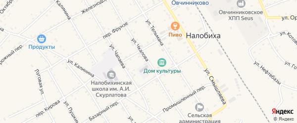 Улица Чкалова на карте села Налобиха с номерами домов