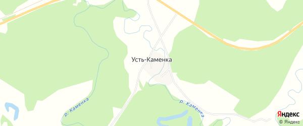 Карта села Усть-Каменки в Алтайском крае с улицами и номерами домов