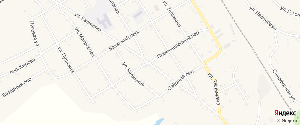 Промышленный переулок на карте села Налобиха с номерами домов