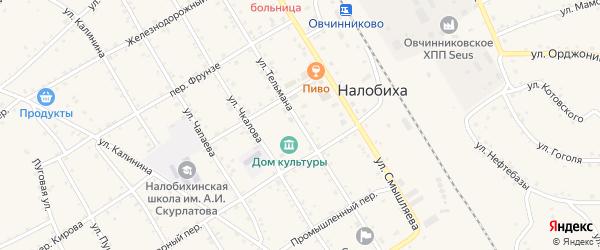 Улица Тельмана на карте села Налобиха с номерами домов