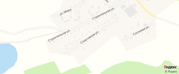 Спортивная улица на карте села Налобиха с номерами домов
