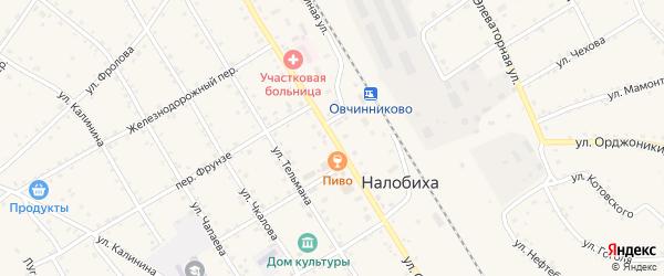 Улица Смышляева на карте села Налобиха с номерами домов