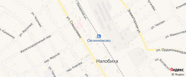 Зеленая улица на карте села Налобиха с номерами домов