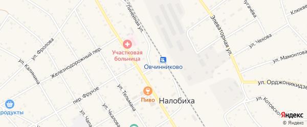 Новый переулок на карте села Налобиха с номерами домов