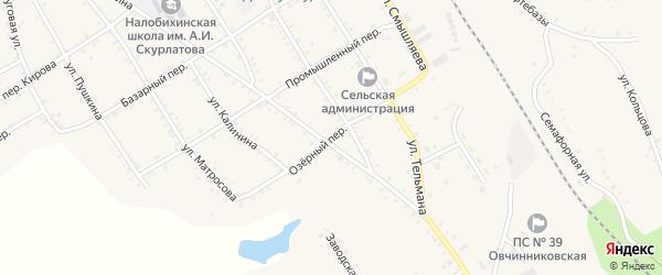 Озерный переулок на карте села Налобиха с номерами домов