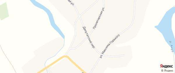 Пролетарская улица на карте Верха-Ануйского села с номерами домов