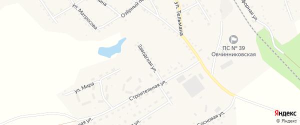 Заводская улица на карте села Налобиха с номерами домов