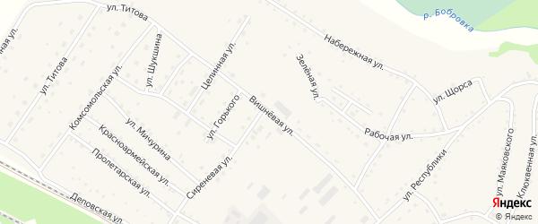 Вишневая улица на карте села Налобиха с номерами домов