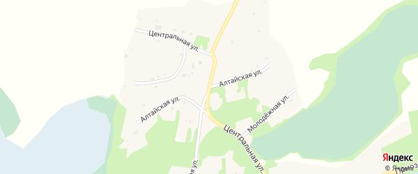 Алтайская улица на карте поселка Уткуля с номерами домов