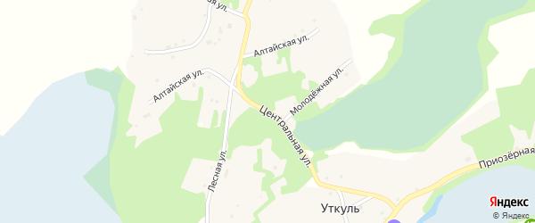 Центральная улица на карте поселка Уткуля с номерами домов