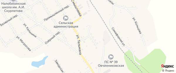 Юбилейная улица на карте села Налобиха с номерами домов