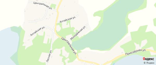 Молодежная улица на карте поселка Уткуля с номерами домов