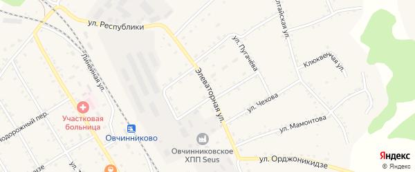 Элеваторная улица на карте станции Баюново с номерами домов