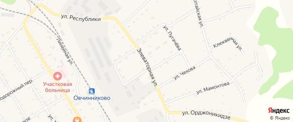 Элеваторная улица на карте села Налобиха с номерами домов