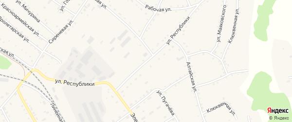 Улица Республики на карте села Налобиха с номерами домов