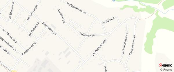 Улица Осипенко на карте села Налобиха с номерами домов