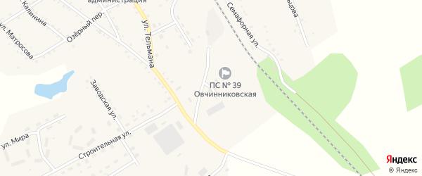 Улица Подстанция на карте села Налобиха с номерами домов