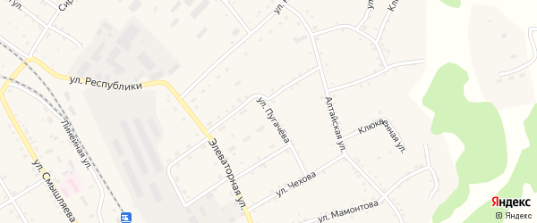 Улица Пугачева на карте села Налобиха с номерами домов